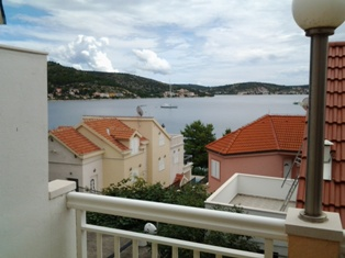 Rogoznica Croatia - view from balcony of  apartment B 3.